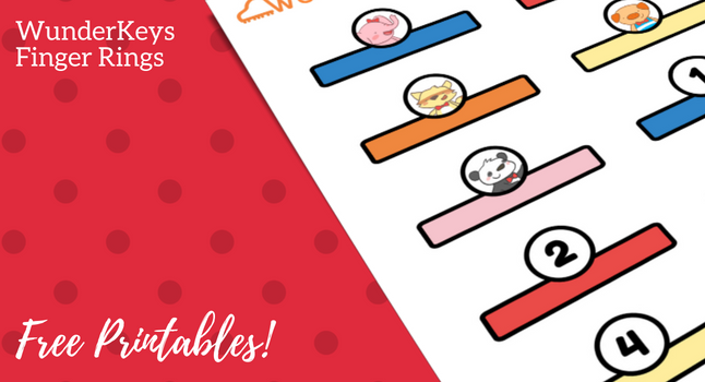 Delight Your Preschool and Primer Students With Printable WunderKeys Finger Rings
