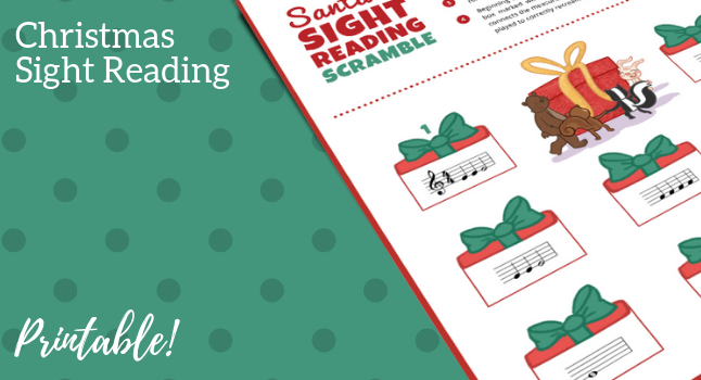 A Holiday Sight-Reading Printable To Solve Note-Reading Struggles