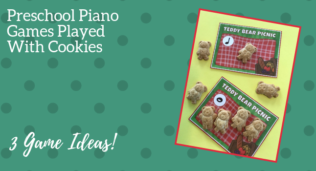 A Teddy Bear Piano Picnic: 3 Preschool Piano Games You Can Play With Cookies