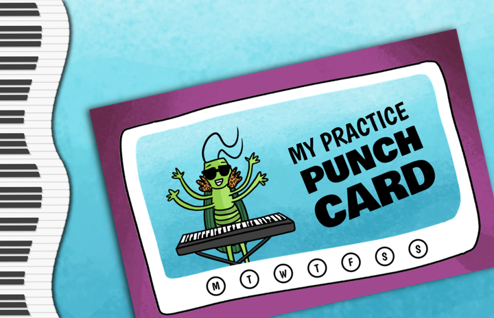 Grasshopper Piano Punch Card
