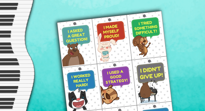 Piano Lesson Brag Tags – Celebrate Your Students' Little Victories
