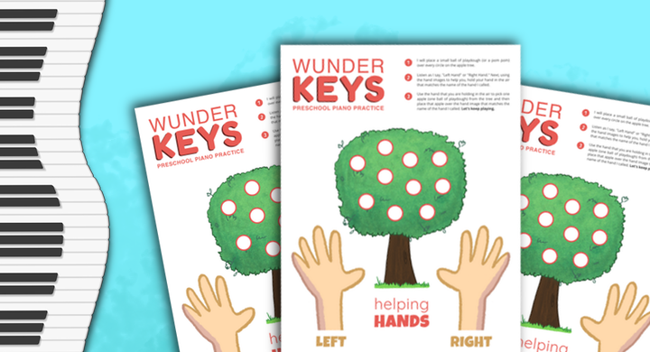 Let's Learn Left and Right With This Helping Hands Piano Game