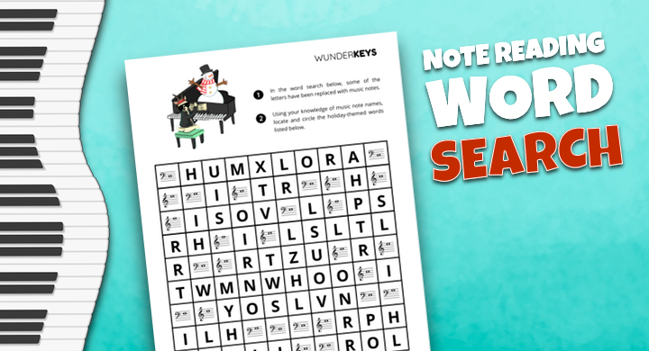 Note Reading Word Search