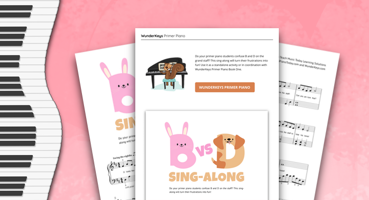 A Primer Piano Sing-Along For Students With Note Reading Struggles