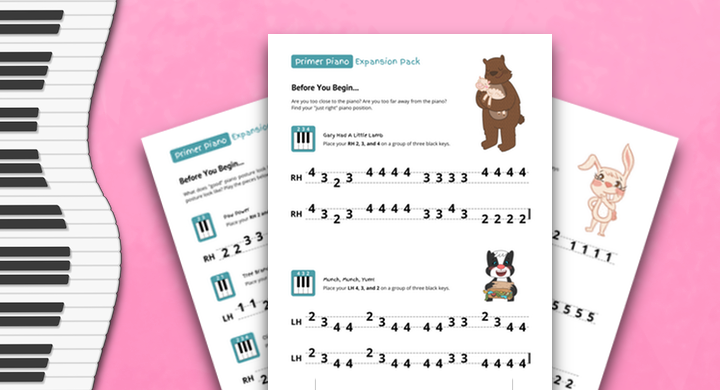 A Beginning Primer Piano Expansion Pack For Stuck-At-Home Students