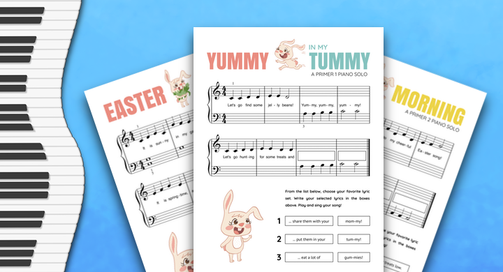 An Easter Piano Solo Pack For Primer Students