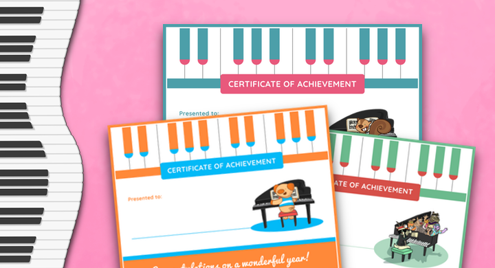 End-Of-Year Piano Certificates For Your Studio